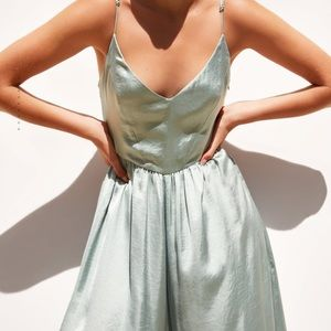 ZARA NWT LIMITED EDITION Long Satin Jumpsuit